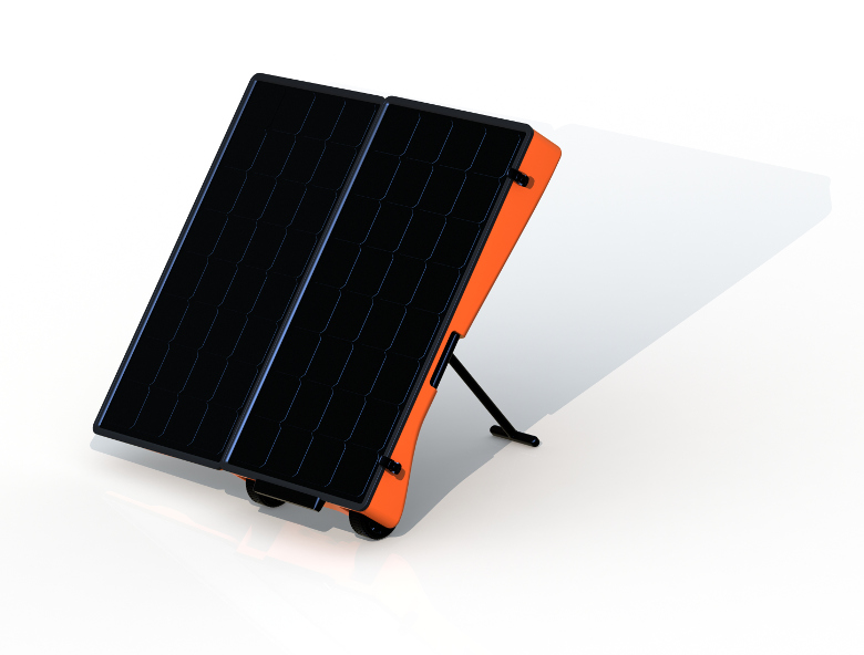mPower Solar Generator M24 with panels open